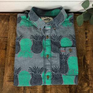 Vans Men's Button Down Short Sleeve Shirt Small